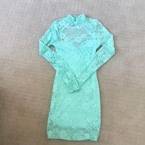 Mint Green lace dress